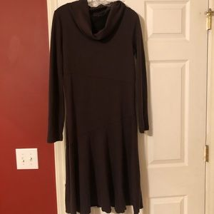 Athleta Brown Camber Cowl Neck Sweater Dress